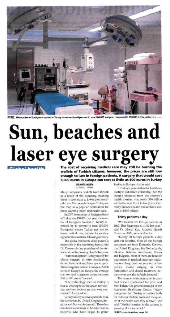 SUN, BEACH AND LASER EYE SURGERY