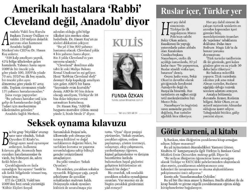 AMERİKALI HASTALARA 'RABBİ CLEVELAND DEĞİL, ANADOLU' DİYOR