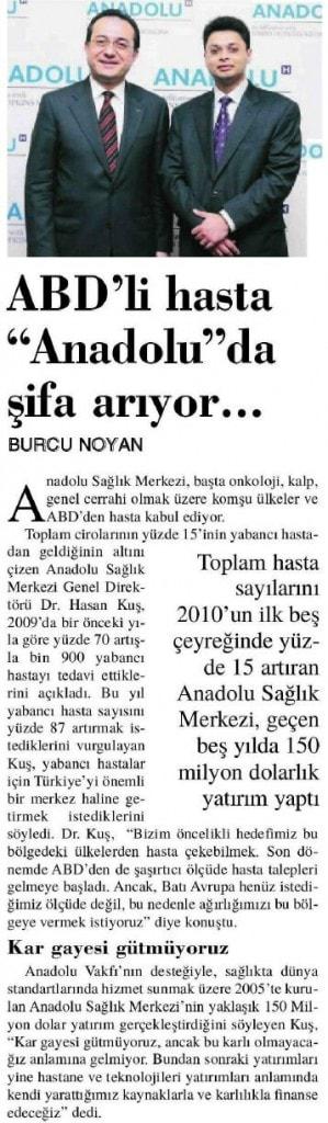 """ABD'Lİ HASTA """"ANADOLU""""DA ŞİFA ARIYOR"""